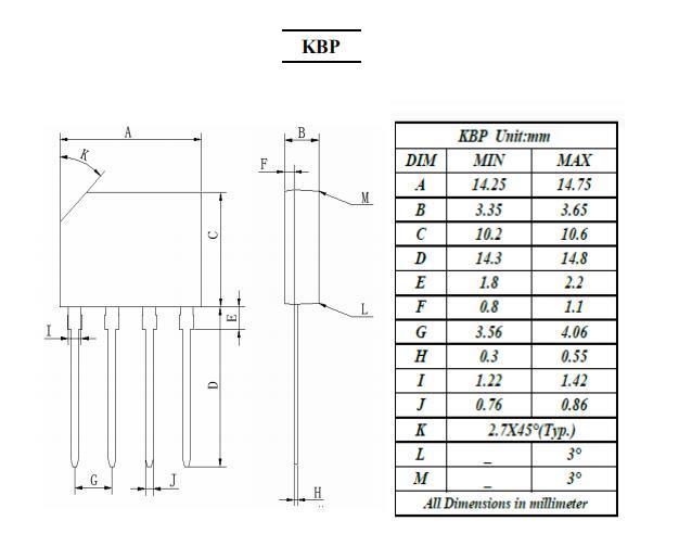 kbp310g bridge rectifiers diodes kbp case 3a series gpp chips
